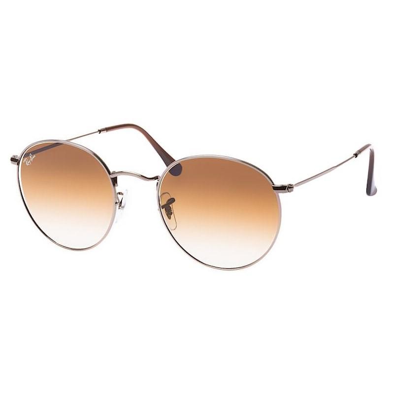 Óculos de Sol Redondo Ray Ban Round RB3447NL Metal Cinza Brilho