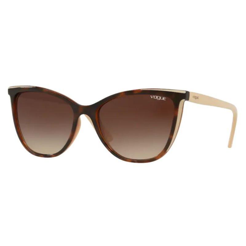 Óculos de Sol Vogue Gatinho VO5252SL Marrom Havana Brilho