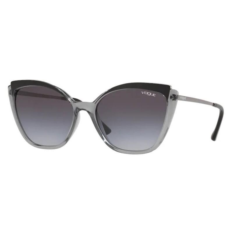 Óculos de Sol Vogue Gatinho VO5266L Cinza Transparente com Preto