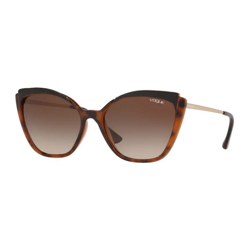Óculos de Sol Vogue Gatinho VO5266SL Marrom Havana Brilho