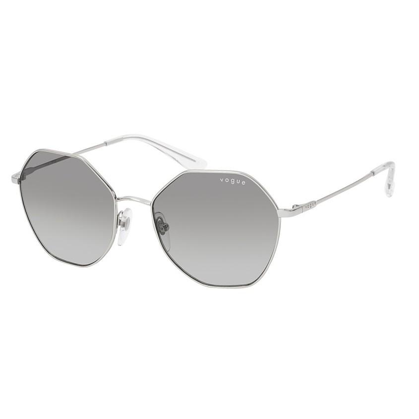 Óculos de Sol Vogue Hexagonal VO4180S Metal Prata Brilho
