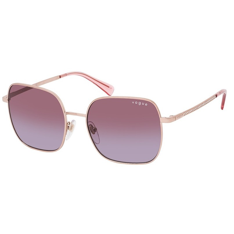 Óculos de Sol Vogue Quadrado VO4175SB Metal Rosa com Brilhantes