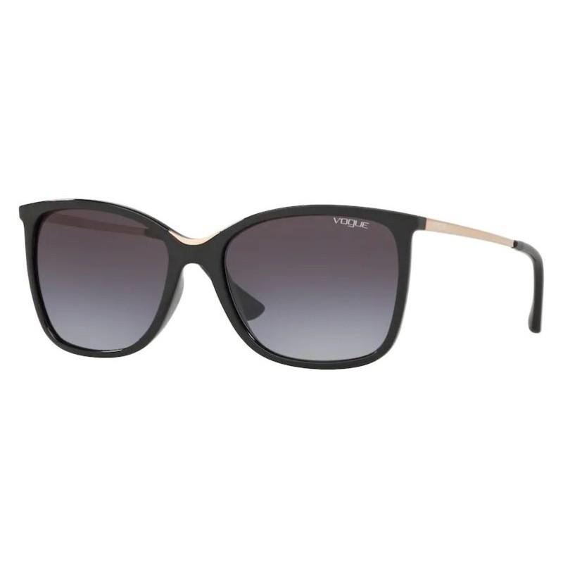 Óculos de Sol Vogue Quadrado VO5267SL Preto Brilho Tamanho 57