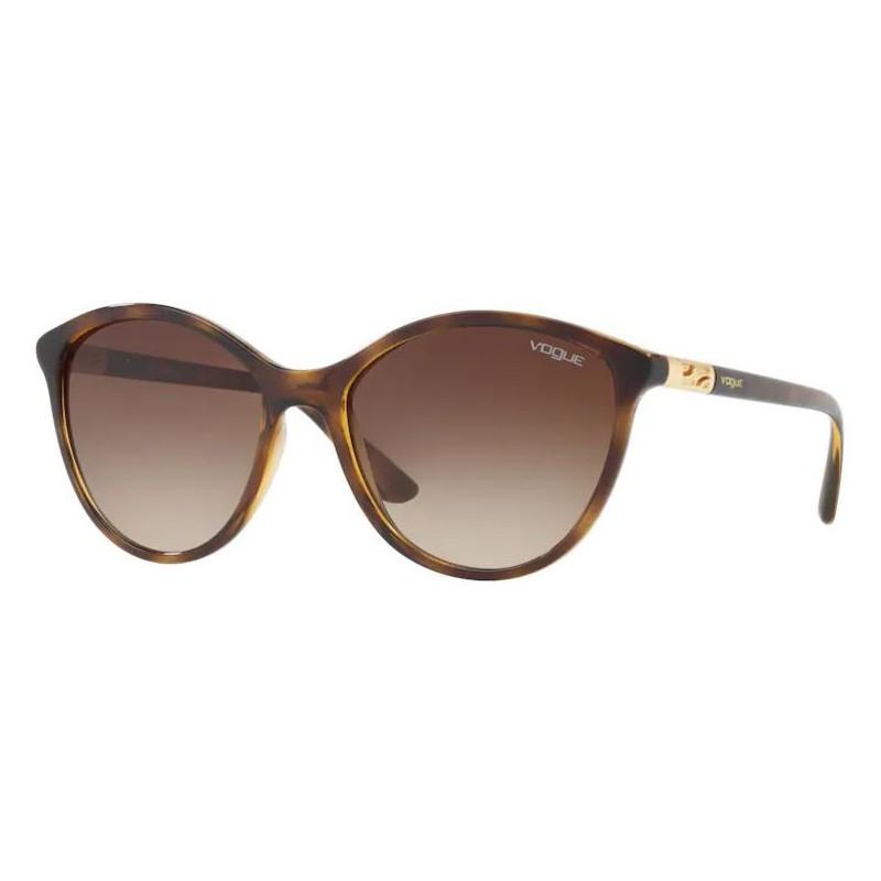 Óculos de Sol Vogue Redondo VO5165S Marrom Tartaruga Brilho