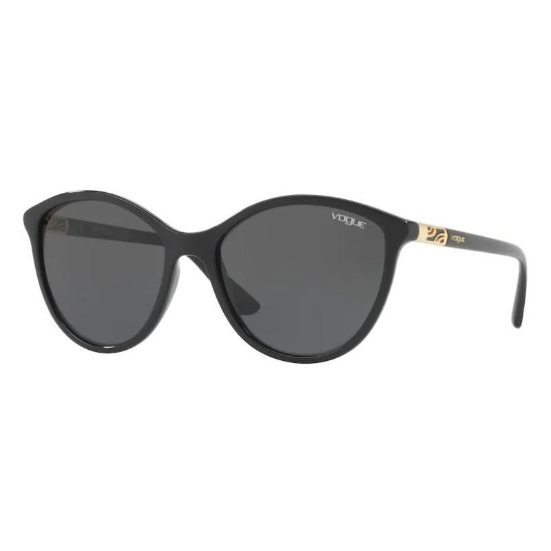 Óculos de Sol Vogue Redondo VO5165S Preto Brilho Lente Cinza