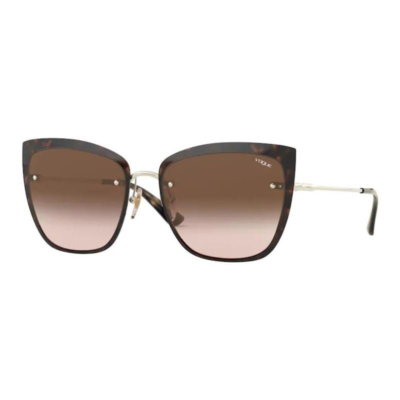 Óculos de Sol Vogue VO4158S Marrom Havana e Dourado Gatinho