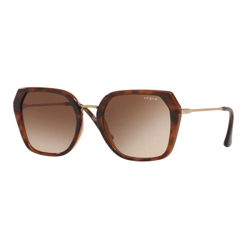 Óculos de Sol Vogue VO5302SL Quadrado Marrom Havana Brilho