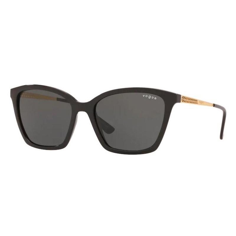 Óculos de Sol Vogue VO5333SL Preto Brilho Tamanho 54