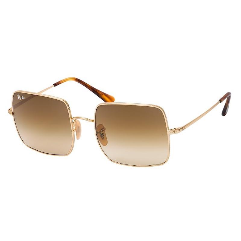 Óculos de Sol Ray Ban Square RB1971L Metal Dourado e Marrom Degradê