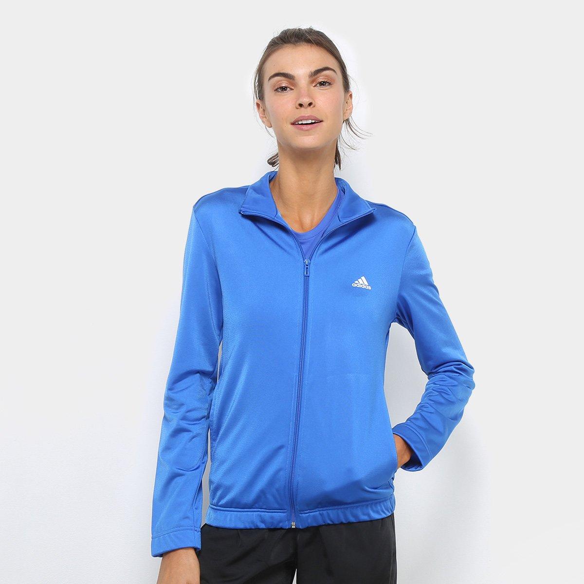 Agasalho Adidas Feminino ESS Azul G