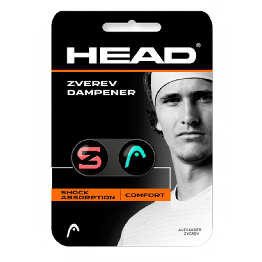 Antivibrador Head Dampner Zverev Verde e Vermelho c/2