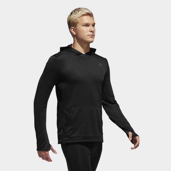 Blusa Adidas Corrida DQ2552  Masculino com Capuz Preta
