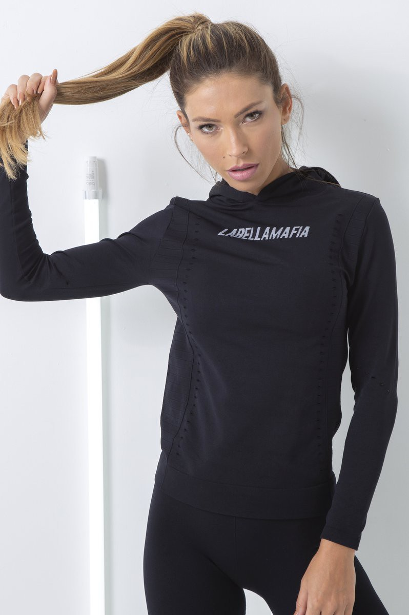 Blusa Seamless Com Capuz Labellamafia
