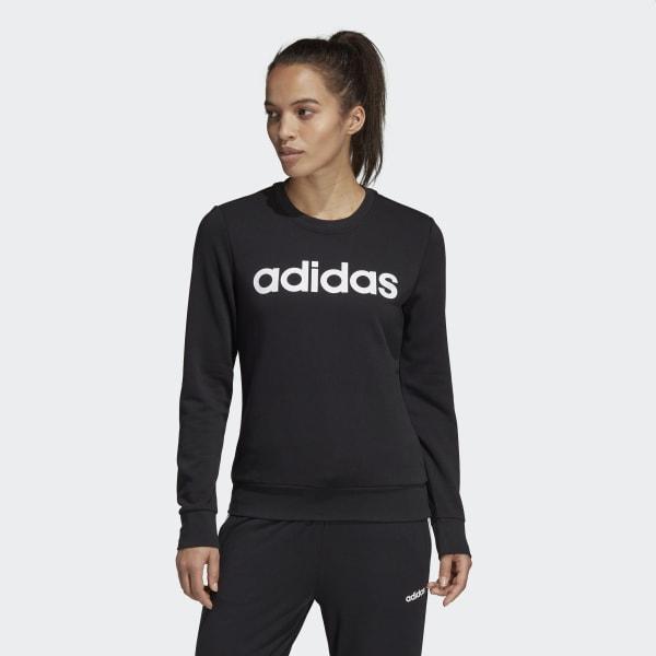 Blusão Adidas Feminino W e Lin Sweat Preto