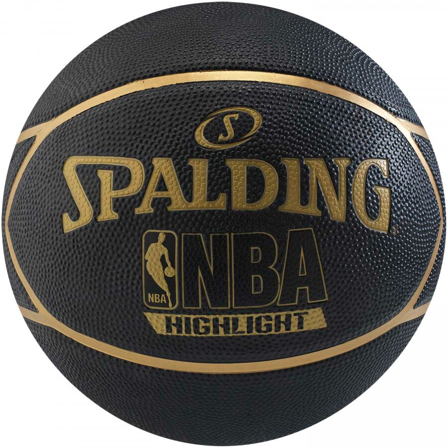 Bola de Basquete Spalding NBA Preta e Dourada Highlight