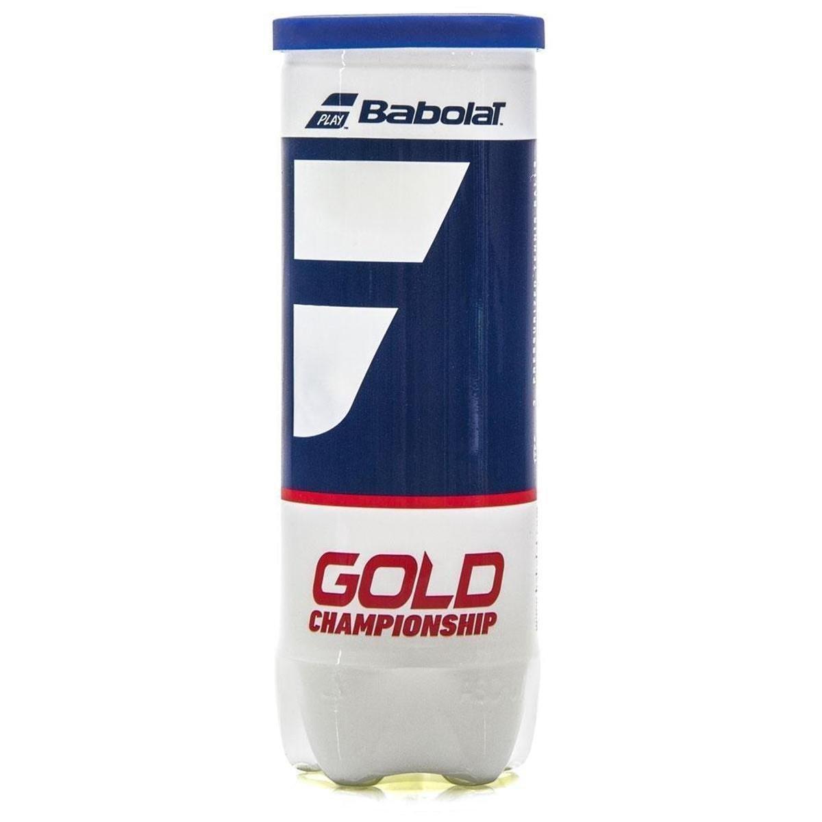 Bola de Tênis Babolat Gold Championship Tubo c/3 Unidades
