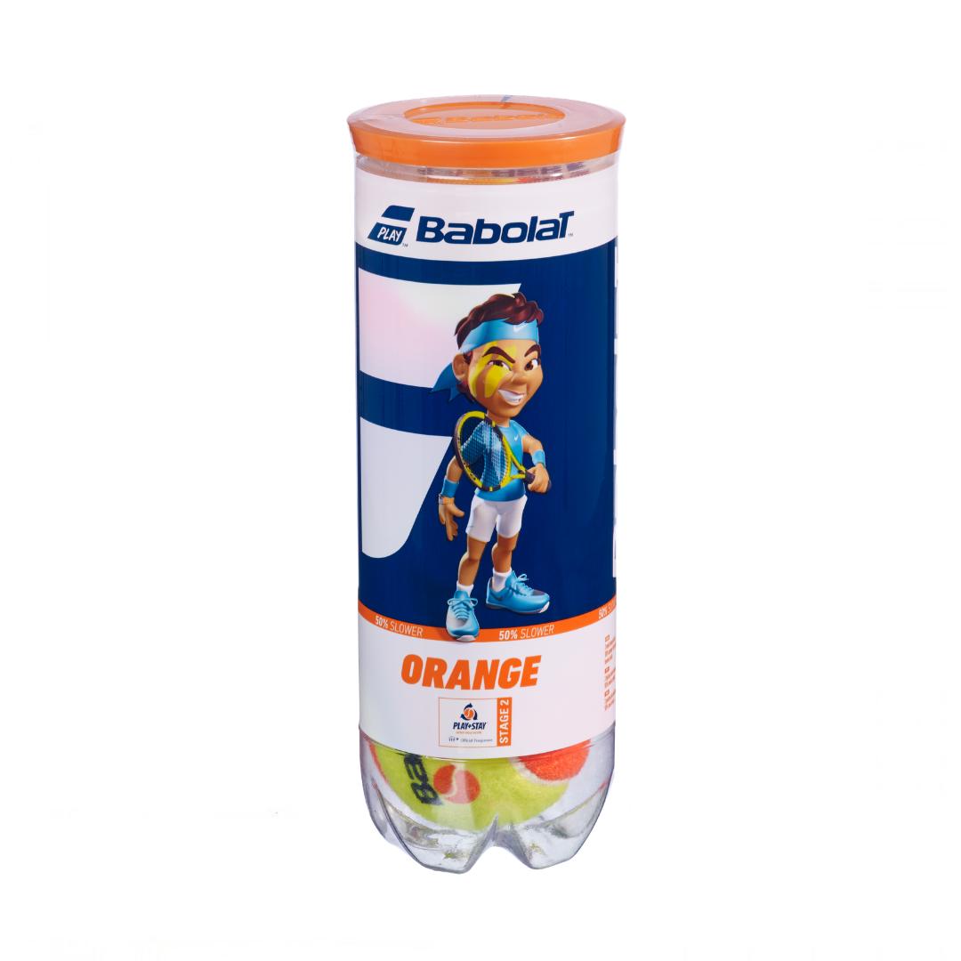 Bola de Tênis Babolat Laranja Tubo c/3 unidades