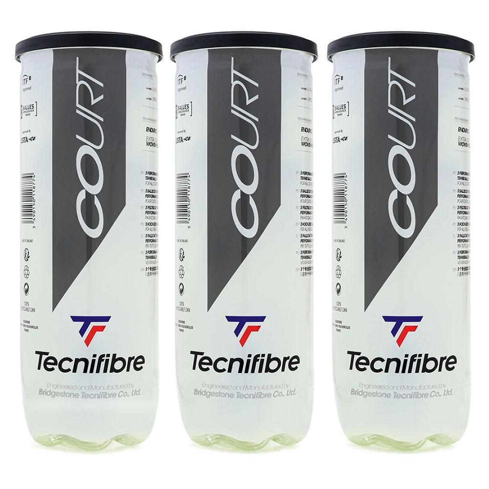 Bola de Tênis Tecnifibre Court Pack c/3 Tubos