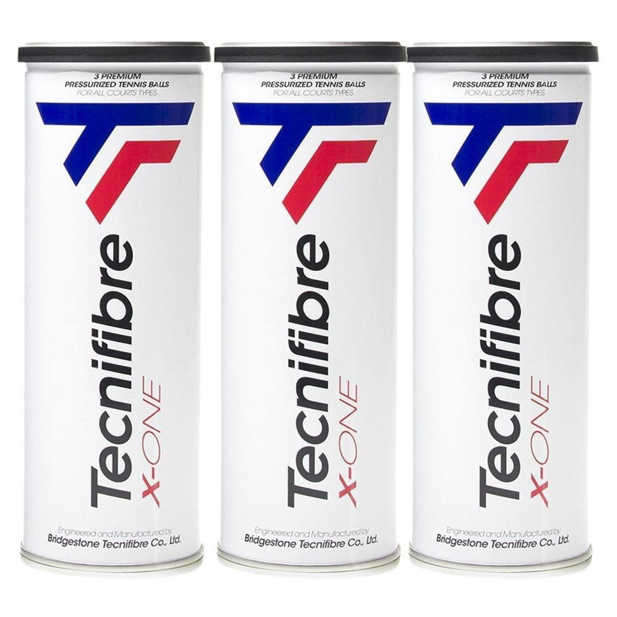 Bola de Tenis Tecnifibre X-One Pack c/3 Tubos