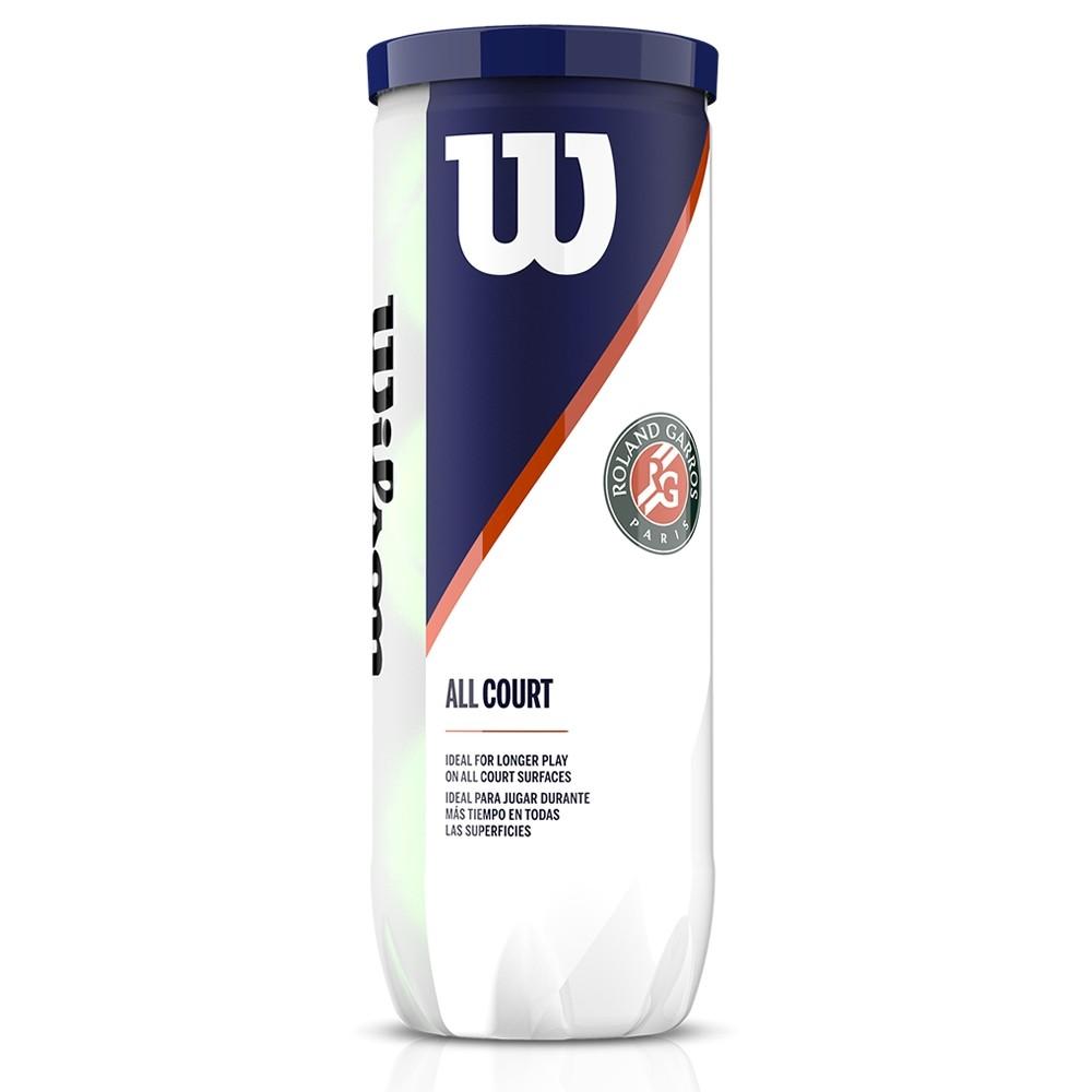 Bola de Tênis Wilson Roland Garros All Court Tubo com 3 unid