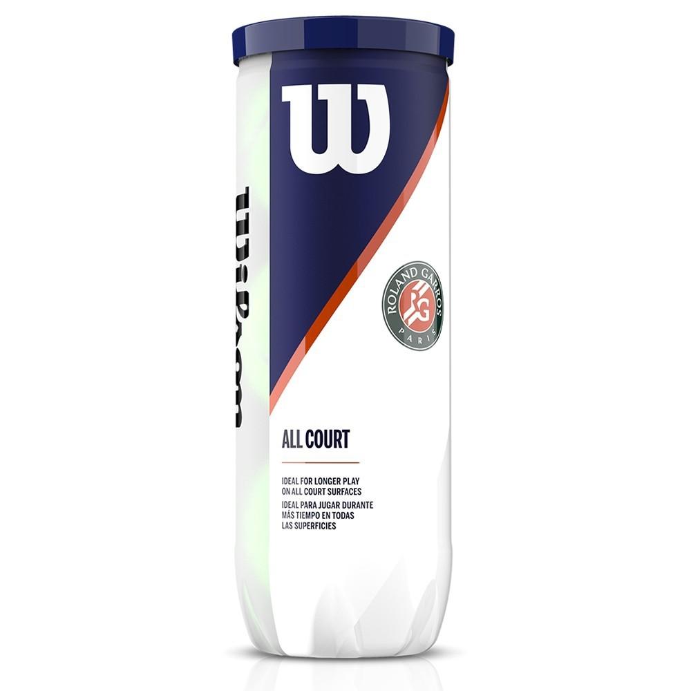 Bola de Tênis Wilson Roland Garros All Court Tubo com 3 unidades
