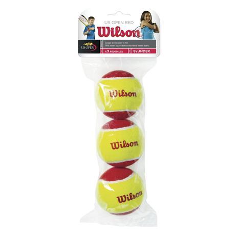 Bola de Tenis Wilson Starter Vermelha Tubo C/3 n.