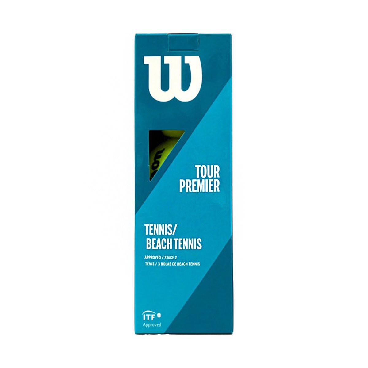 Bola de Tênis Wilson Tour Premier Beach/Est 2 Laranja c/3 unidades