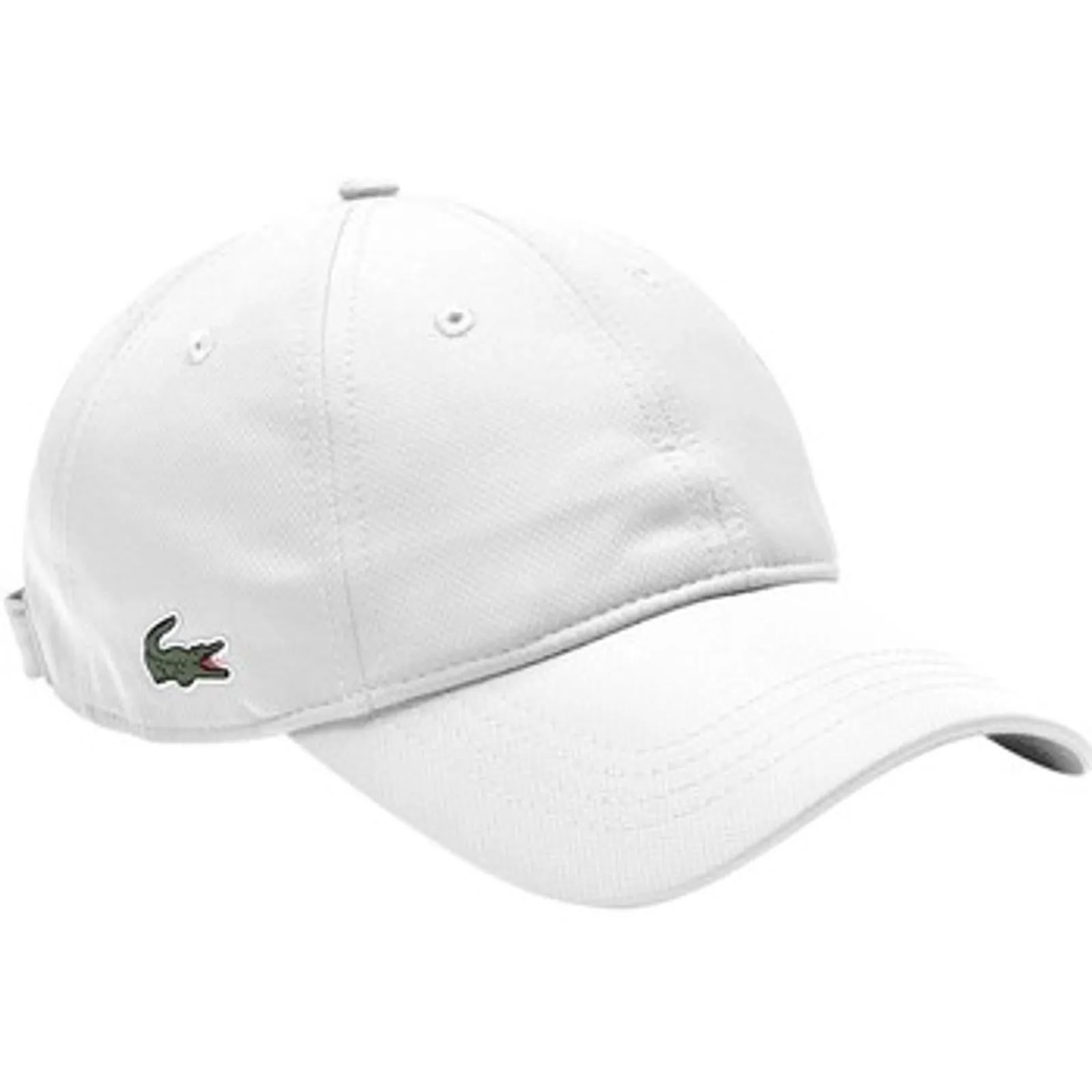 Boné Lacoste RK2662 Branco Logo Lateral