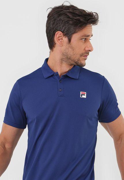 Camisa Polo Fila Masculina Action III Marinho
