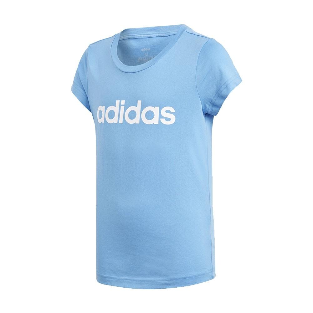 Ccamiseta Adidas Infantil Essentials Linear DV0362 Azul