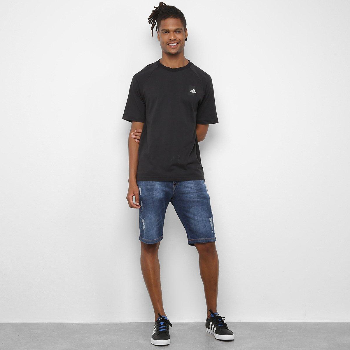 Camiseta Adidas Masculina Mhesta Preta