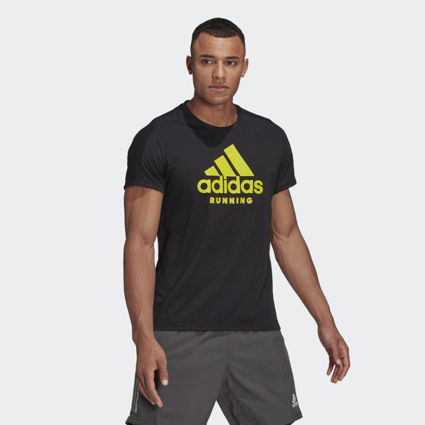Camiseta Adidas Masculina Running Preta/Verde