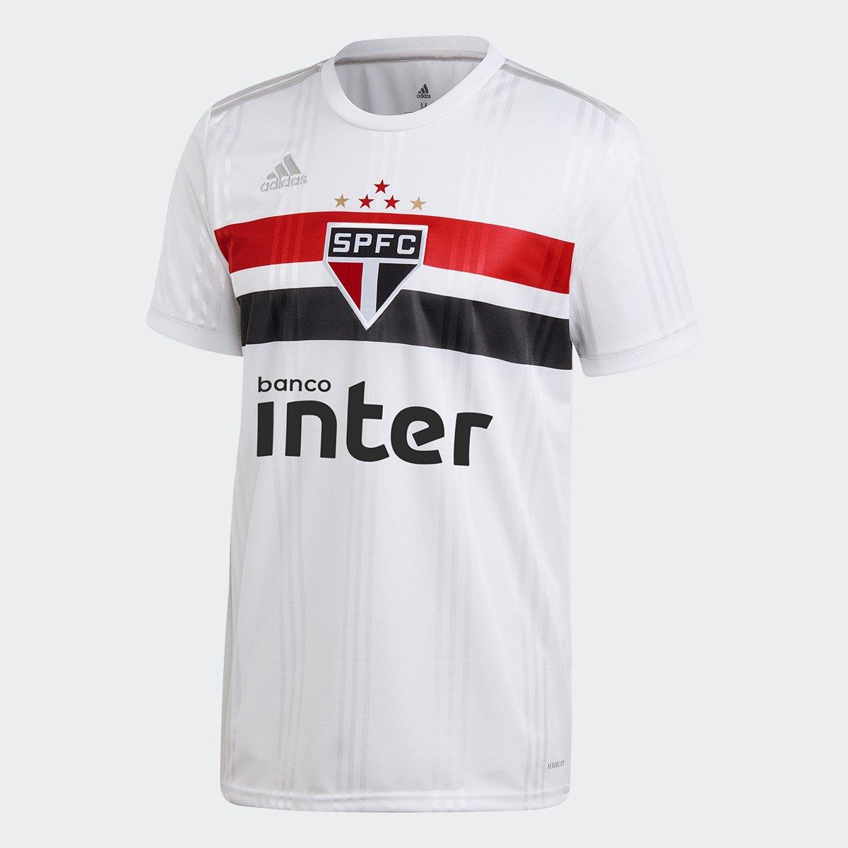 Camiseta Adidas Sao Paulo 1 Branca/Vermelha/Preta 2021