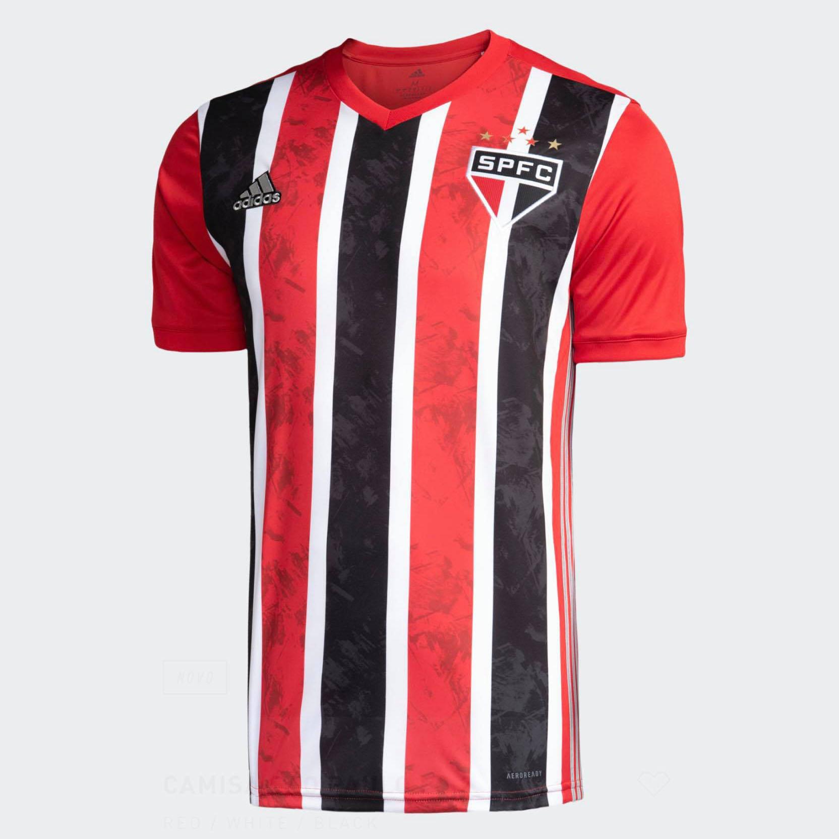 Camiseta Adidas Sao Paulo 2 Branca/Vermelha/Preta 2021