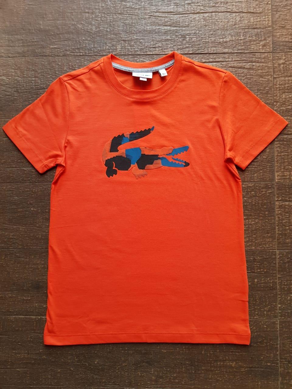 Camiseta Lacoste Masculina TH7253 Laranja