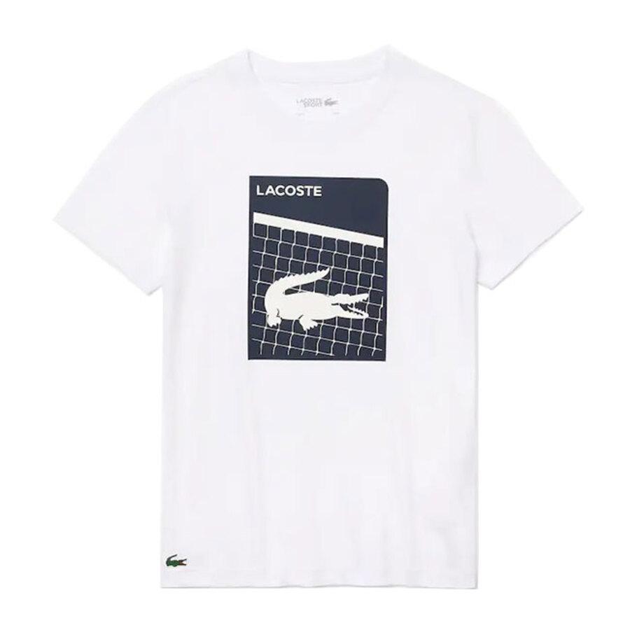 Camiseta Lacoste Masculino TH9654 Branco e Azul