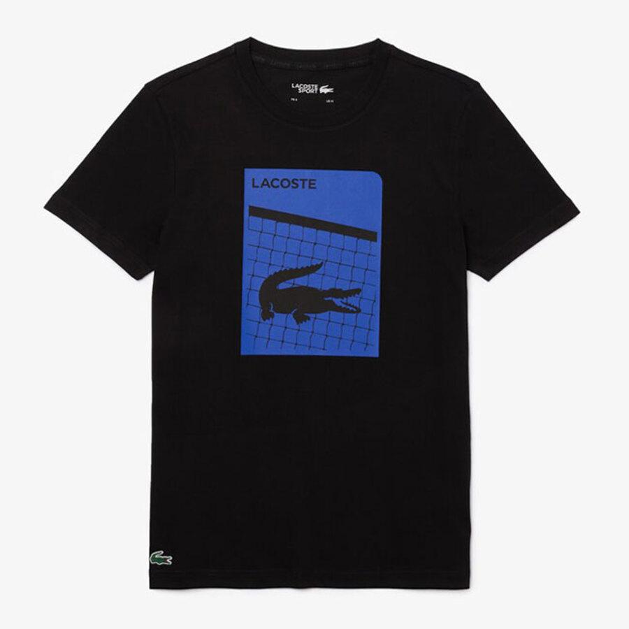 Camiseta Lacoste Masculino TH9654 Preto e Azul