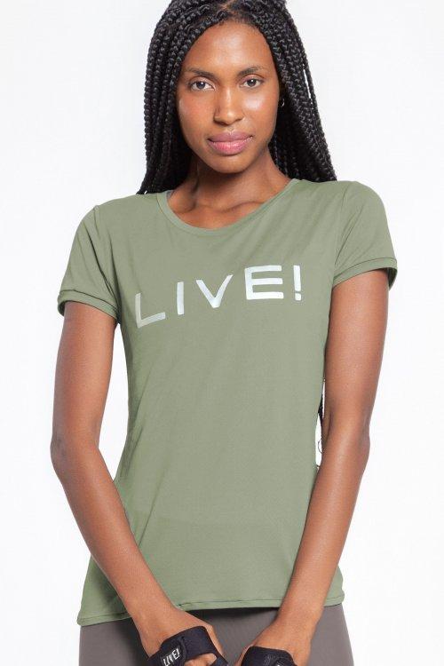 Camiseta Live! Feminina BL Holographic Verde TAMANHO: GG