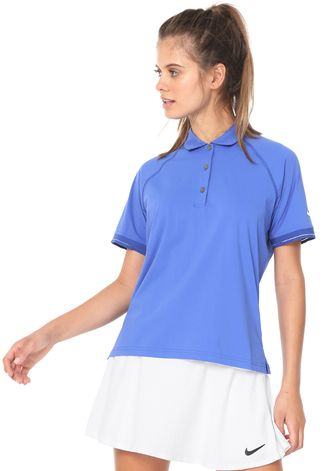 Camiseta Nike Feminino Polo BV1057 Azul G