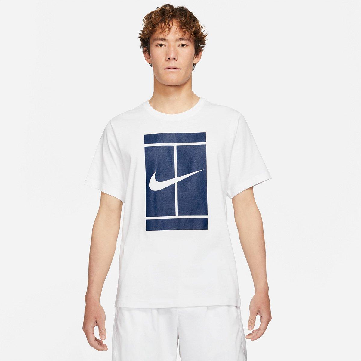 Camiseta Nike Masculina Court Branca