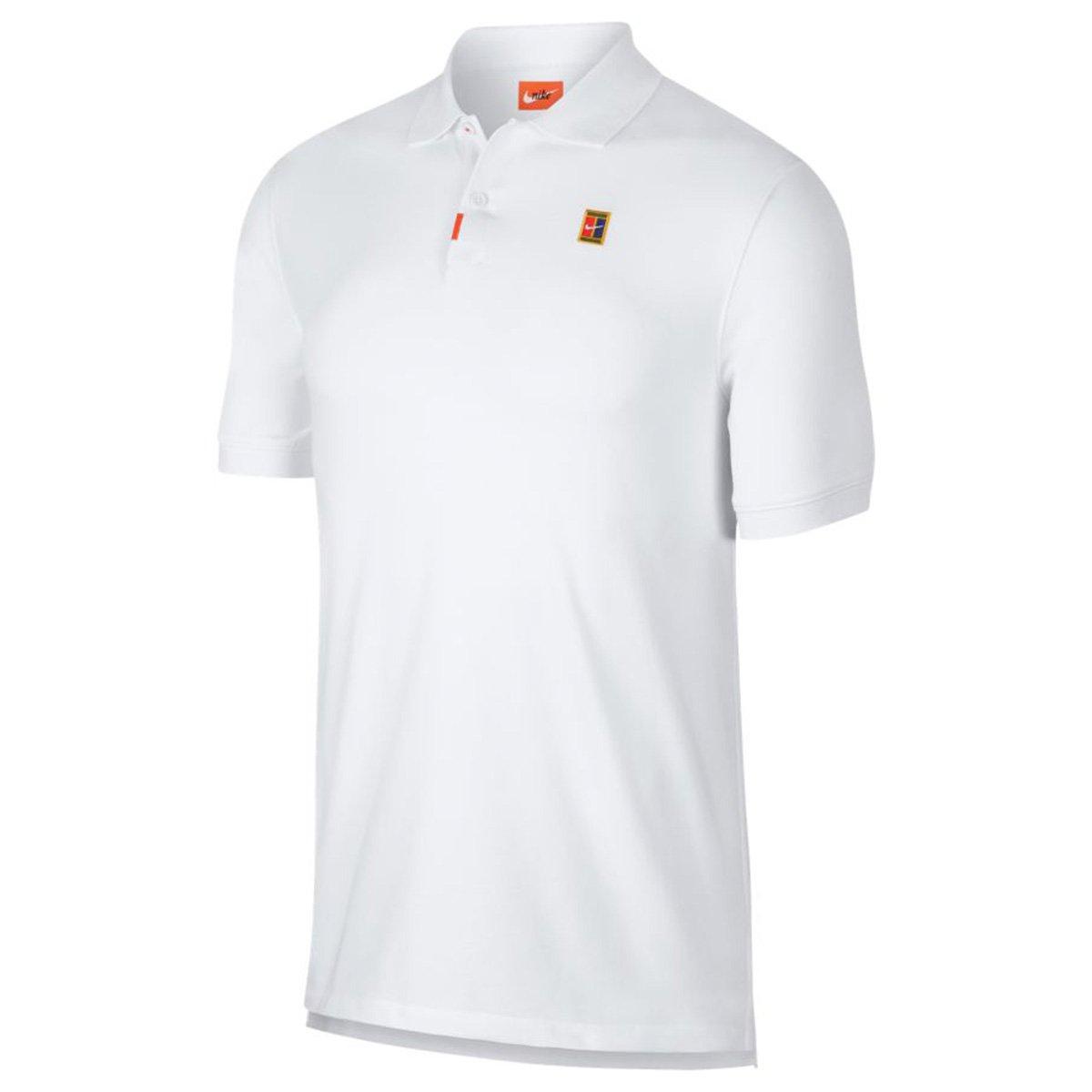 Camiseta Nike Masculina Court Tee Branca e Laranja tamanho:GG