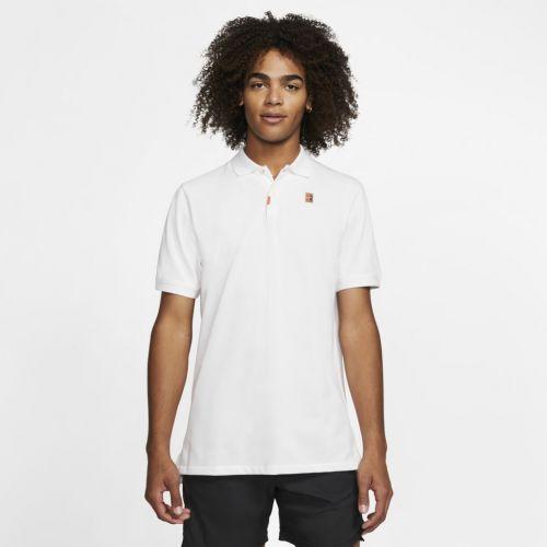 Camiseta Nike Masculina Polo Heritage Retrô Branca