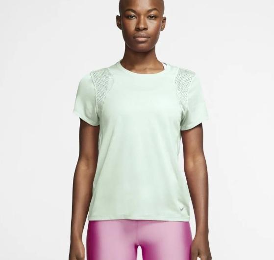 Camiseta Nike Run Top SS Feminino Verde