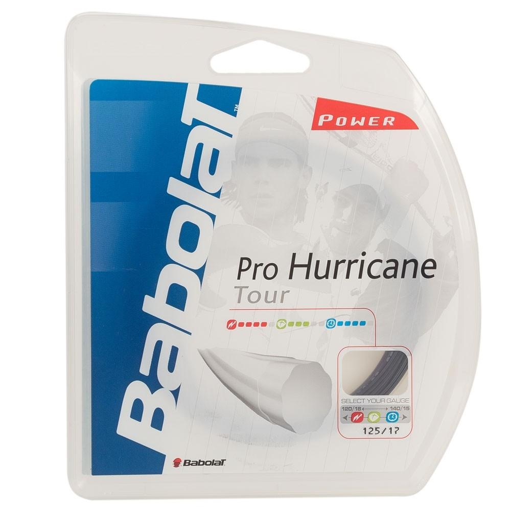Corda Babolat Pro Hurricane Tour 1,25 Preta Set Individual