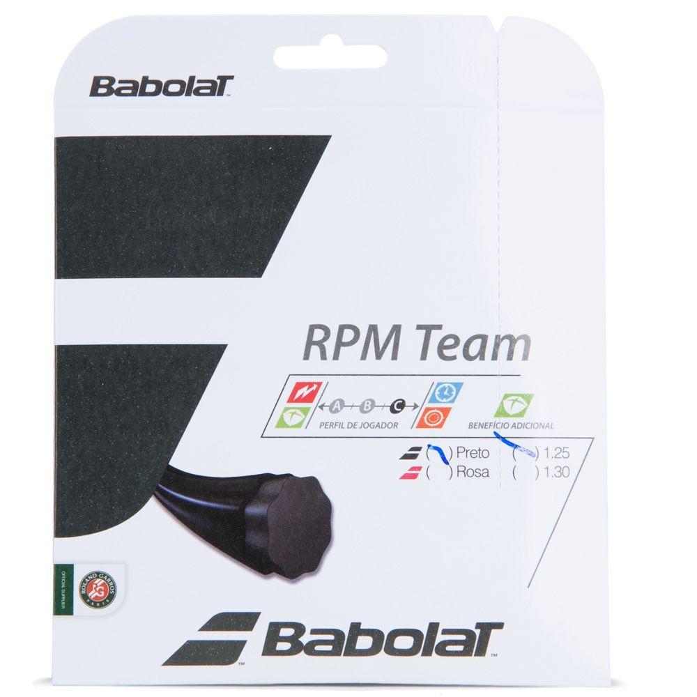 Corda Babolat Rpm Team 1,25 Preta - Set Individual