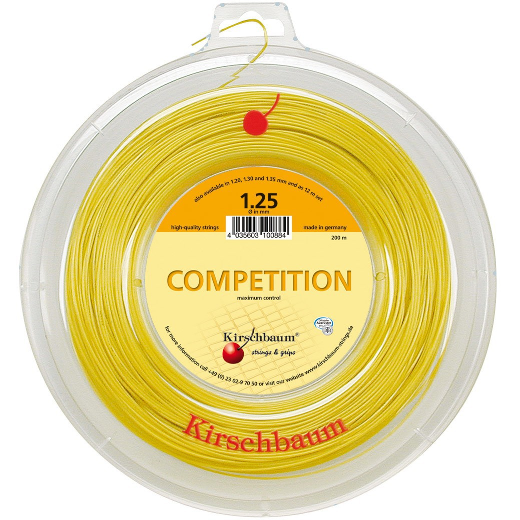 Corda Kirschbaum Competition 1,25 Amarelo Rolo c/200 Metros