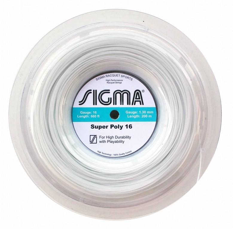Corda Sigma Super Poly Branco 1,30 - Rolo c/200 Metros