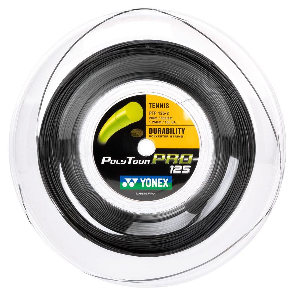 Corda Yonex Poly Tour Pro 1,25 Preto - Rolo c/200 Metros
