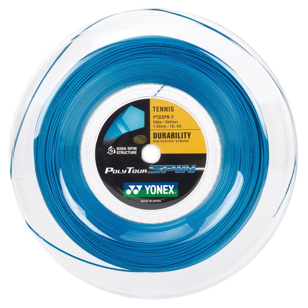 Corda Yonex Poly Tour Spin Azul 1,25 - Rolo c/200 Metros