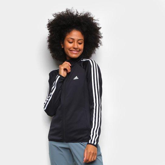 Jaqueta Adidas 3 Listras Fermina Preto e Branco